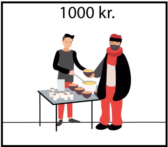 Doner 1000 Kr til 1000 måltider