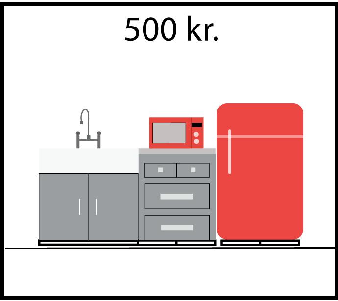 Doner 500 Kr til køkken faciliteter